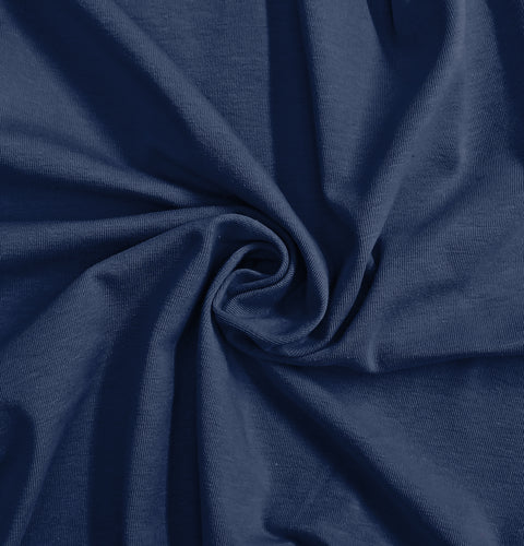 Navy Stretch Jersey Knit Fabric by the Yard
