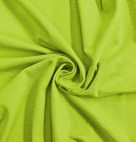 Lime Stretch Jersey Knit Fabric by the Yard