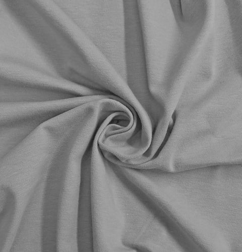 Gray Stretch Jersey Knit Fabric by the Yard