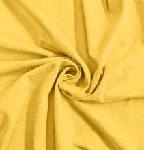 Load image into Gallery viewer, Yellow Stretch Jersey Knit Fabric by the Yard