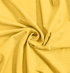 Yellow Stretch Jersey Knit Fabric by the Yard