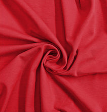 Load image into Gallery viewer, Red Stretch Jersey Knit Fabric by the Yard