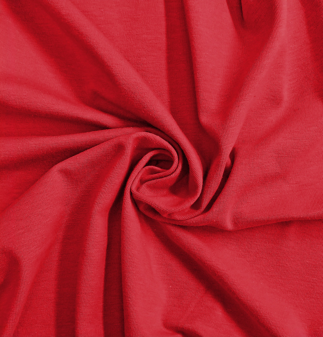 Red Stretch Jersey Knit Fabric by the Yard