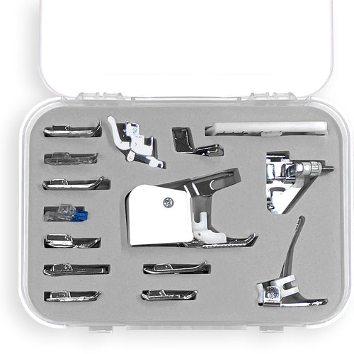 Sewing Machine Presser Foot Set with Case – Low Shank