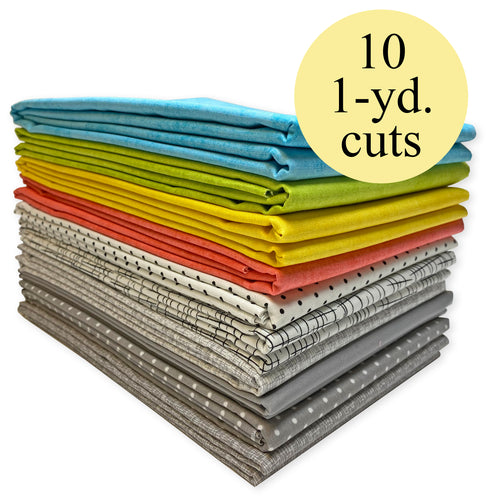 Modern Cotton Fabric Pack – 10-Yard Bundle