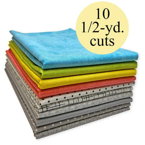 Modern Cotton Fabric Pack – 5-Yard Bundle