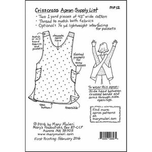 Mary Mulari's Crisscross Apron Pattern