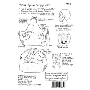 NEW! Viola Apron Pattern