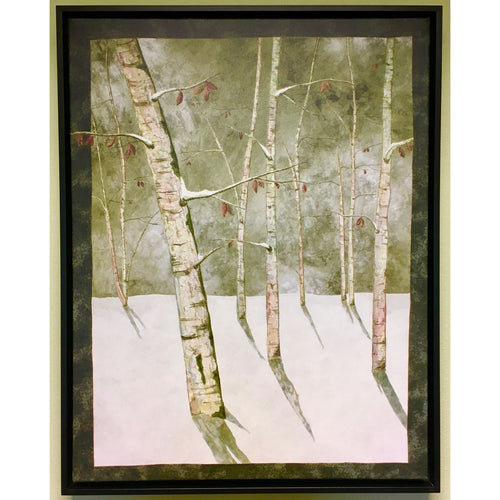 Moon Lit Birches Nancy Zieman Art Print