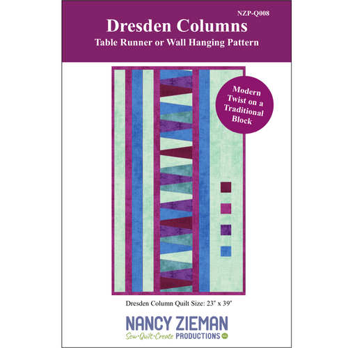 NEW! Dresden Columns Table Runner or Wall Hanging Pattern