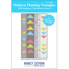Load image into Gallery viewer, NEW! Modern Floating Triangles Wall Hanging or Table Runner Pattern