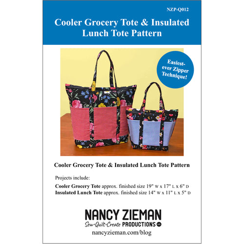 NEW! Cooler Grocery Tote and Insulated Lunch Tote Pattern