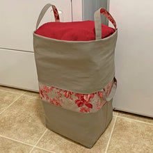 Load image into Gallery viewer, NEW! Taupe Big-Bigger Laundry Bag Bundle Box