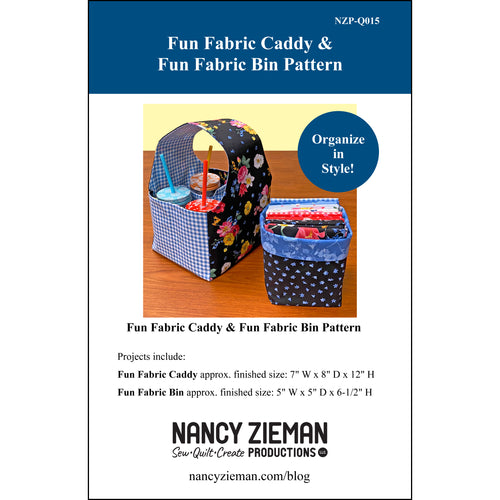 NEW! Fun Fabric Caddy & Fun Fabric Bin Pattern