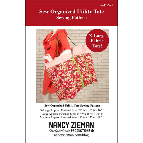 NEW! Sew Organized Utility Tote Sewing Pattern