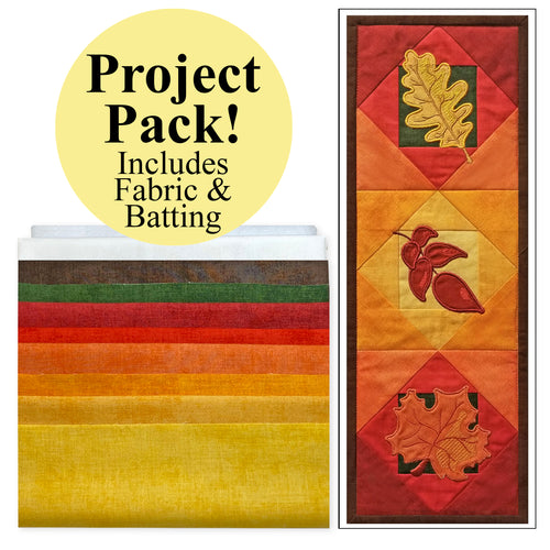 NEW! Exclusive Quick Quilting in the Hoop Fall Leaves Mini Wall Quilt Project Pack