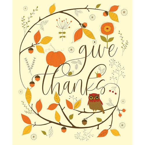 NEW! Give Thanks Fabric Panel Cream