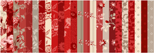 "Load image into Gallery viewer, NEW! Red Elegance 2-1/2"" Fabric Strip Pack"