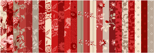 "NEW! Red Elegance 2-1/2"" Fabric Strip Pack"