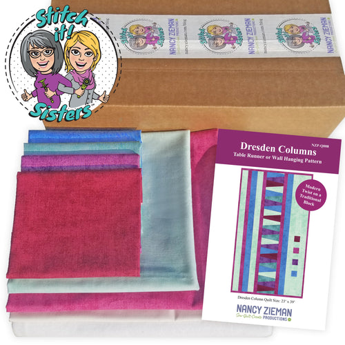EVERYTHING YOU'LL NEED TO MAKE THIS PROJECT—NEW! Dresden Columns Table Runner Bundle Box