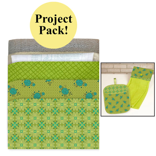 NEW! Exclusive Green Wildflower Boutique No-Hassle Potholder Plus and Towel Topper Project Pack