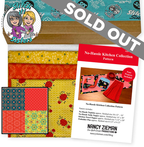 NEW! Exclusive Red Wildflower Boutique No-Hassle Napkin and Table Topper Bundle Box
