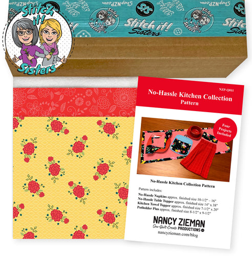 New! Exclusive Red & Yellow Wildflower Boutique No-Hassle Napkin and Table Topper Bundle Box