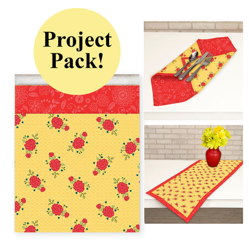 NEW! Exclusive Red & Yellow Wildflower Boutique No-Hassle Napkin and Table Topper Project Pack