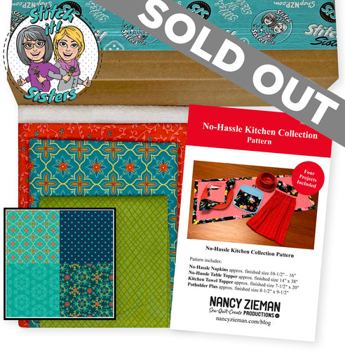 NEW! Exclusive Teal Wildflower Boutique No-Hassle Napkin and Table Topper Bundle Box