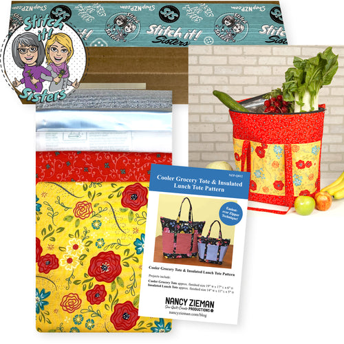 NEW! Exclusive Wildflower Boutique Cooler Grocery Tote Bundle Box