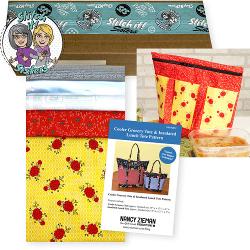 NEW! Exclusive Wildflower Boutique Insulated Lunch Tote Bundle Box