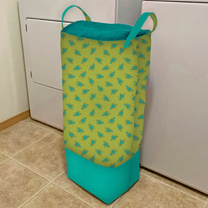 NEW! Exclusive Green Wildflower Boutique Big-Bigger Laundry Bag Bundle Box