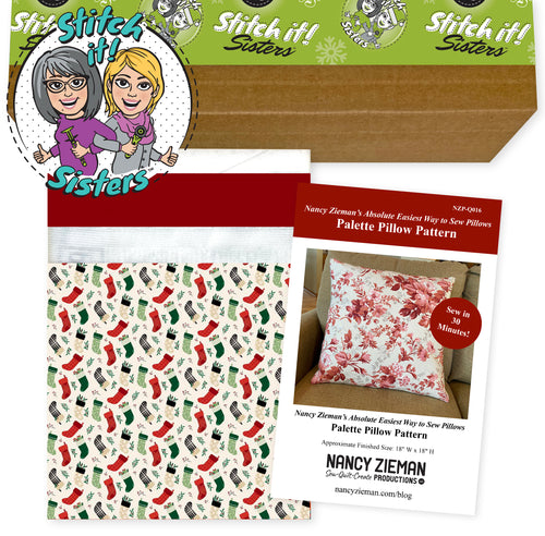 NEW! Christmas Traditions Cream Palette Pillow Bundle Box