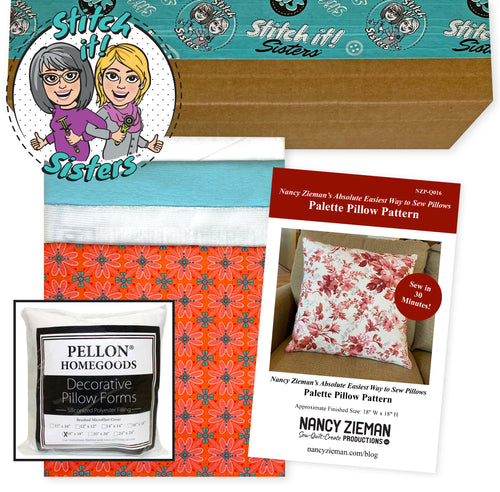 NEW! Exclusive Coral Wildflower Boutique Palette Pillow Bundle Box with Pillow Insert