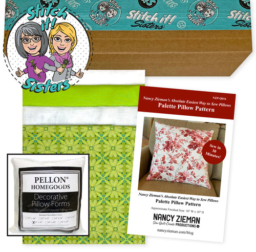 NEW! Exclusive Green Wildflower Boutique Palette Pillow Bundle Box with Pillow Insert