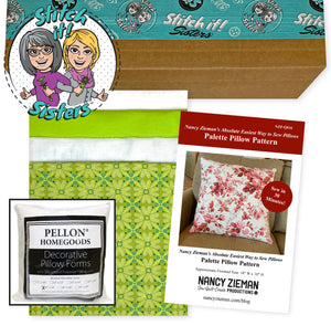 Exclusive Green Wildflower Boutique Palette Pillow Bundle Box with Pillow Insert