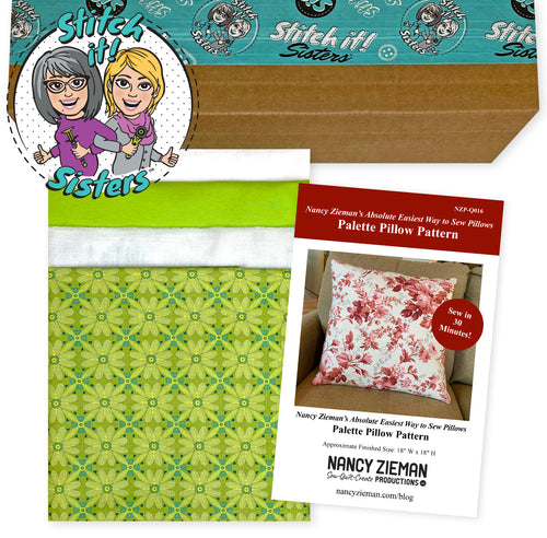 NEW! Exclusive Green Wildflower Boutique Palette Pillow Bundle Box