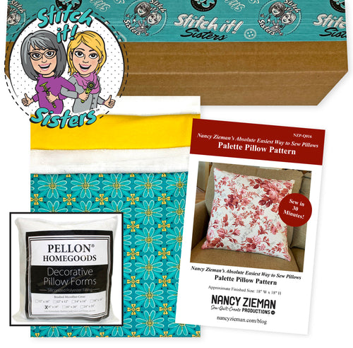 Exclusive Teal Wildflower Boutique Palette Pillow Bundle Box with Pillow Insert