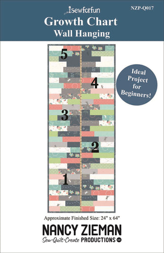 NEW! I Sew For Fun Growth Chart Wall Hanging Pattern