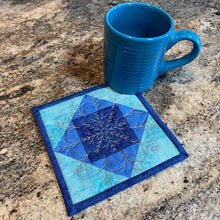 Load image into Gallery viewer, NEW! Exclusive Quick Quilting in the Hoop: Winter Snowflakes Coasters Project Pack