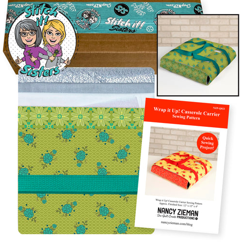 NEW! Exclusive Wrap It Up! Casserole Carrier Bundle Box—Green & Teal