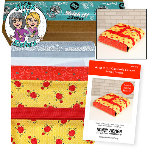 NEW! Exclusive Wrap It Up! Casserole Carrier Bundle Box—Yellow & Red