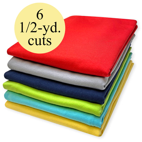 Stretch Jersey Knit Fabric Pack - 3-Yard Bundle