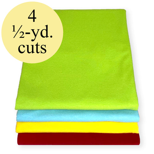 NEW! Brights Stretch Jersey Knit Fabric Pack – 2-Yard Bundle