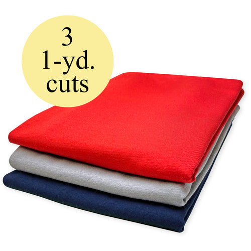 NEW! Americana Stretch Jersey Knit Fabric Pack – 3-Yard Bundle