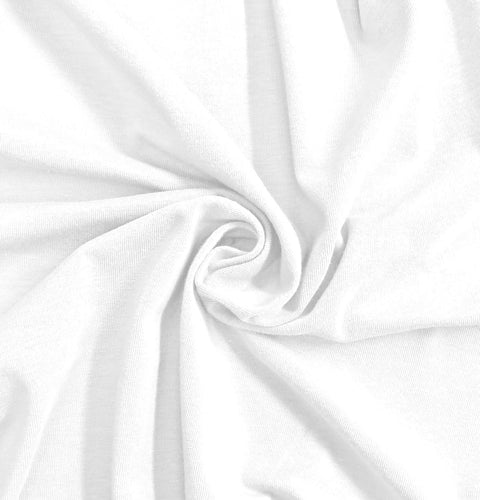 NEW! Bright White Stretch Jersey Knit Fabric