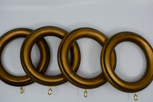 "2 1/2"" Reeded Wood Rings"