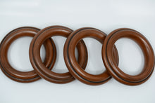 "Load image into Gallery viewer, 2 1/2"" Reeded Wood Rings"