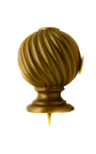 Twisted Ball Resin Finial