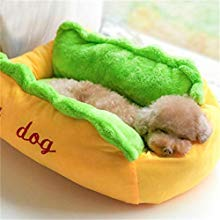 Cute hot dog kennel cat litter trumpet pet nest fashion mat pad dog mat washable one piece pet bed dog beds cat kennel dog house